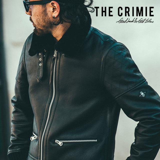 CRIMIE(クライミー) B3 MOUTON LEATHER JACKET 【2018AUTUMN/WINTER先行予約】 【キャンセル不可】【C1H5-JK01】