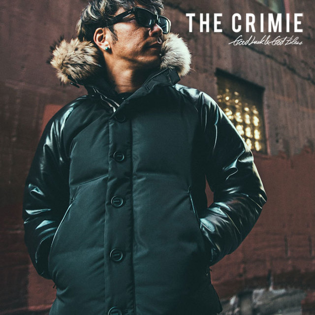 CRIMIE(クライミー) 2 WAY HOOD LEATHER SLEEVE DOWN JACKET 【2018AUTUMN/WINTER先行予約】 【キャンセル不可】【C1H5-JK09】