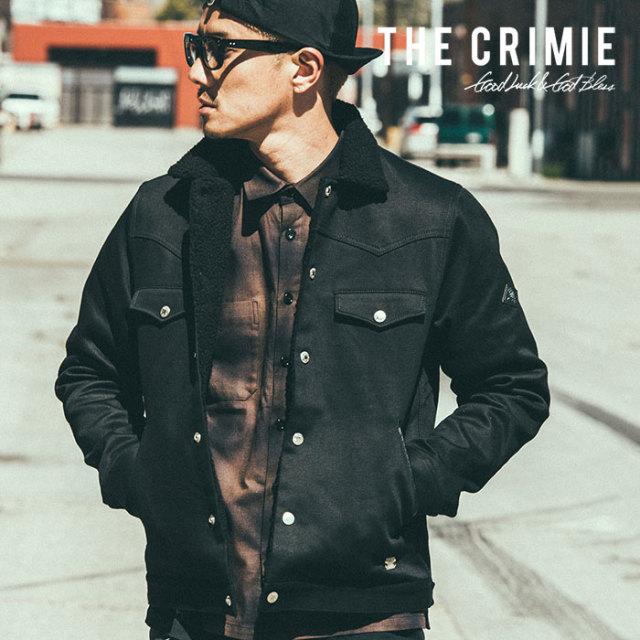 【SALE30%OFF】 CRIMIE(クライミー) メンズ ボア ジャケット【C1H5-JK25】[S M L XL][ブラック カーキ 黒] シンプル 防寒 AUTUMN新