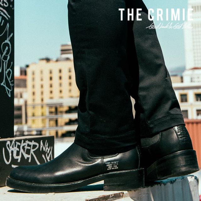 CRIMIE(クライミー)メンズ ブーツ サイドゴア 牛革 定番【C1H5-SB01】[24 25 26 27 28][ブラック 黒] シンプル革靴 AUTUMN新作 秋冬