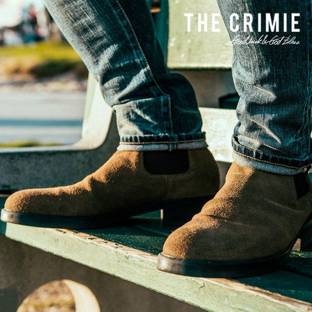 CRIMIE(クライミー)メンズ ブーツ サイドゴア スウェード 牛革【C1H5-SB02】[24 25 26 27 28][ブラウン 茶] シンプル 防寒 革靴 AUTU