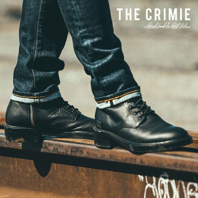 【SALE30%OFF】 CRIMIE(クライミー) メンズ ブーツ 編み上げ 牛革 カウレザー【C1H5-SB03】[24 25 26 27 28][ブラック 黒] シンプ