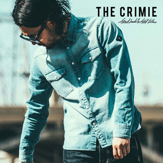 CRIMIE(クライミー) VINTAGE DENIM SHIRT 【2018AUTUMN/WINTER先行予約】 【キャンセル不可】【C1H5-SH01】
