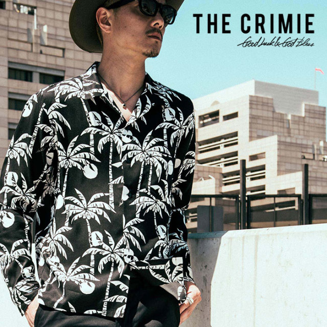 CRIMIE(クライミー) PALM TREE DOT ALOHA SHIRT 【2018AUTUMN/WINTER先行予約】 【キャンセル不可】【C1H5-SH11】