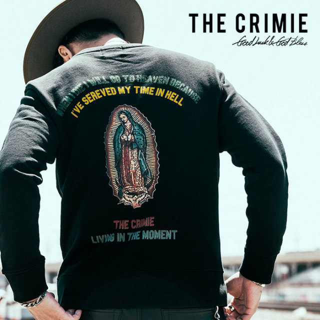 CRIMIE(クライミー) GUADALUPE CREW NECK SWEAT SHIRT 【2018AUTUMN/WINTER先行予約】 【キャンセル不可】【C1H5-SW01】