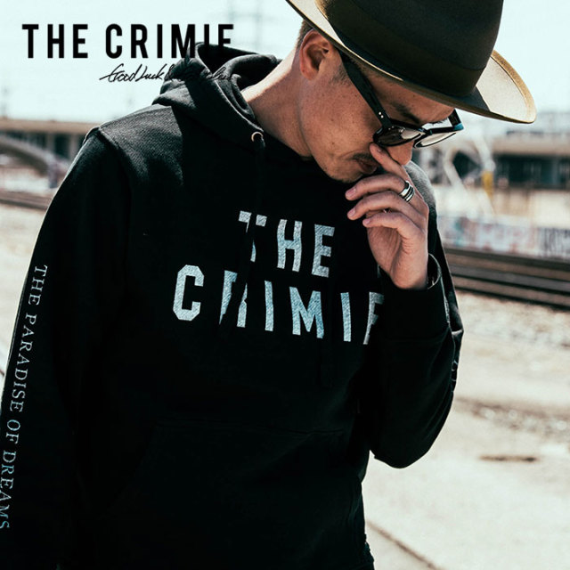 【SALE30%OFF】 CRIMIE(クライミー) メンズ ロゴ スウェット パーカー クルーネック コットン100%【C1H5-SW04】 [S M L LL XL][ブラ