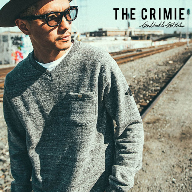 CRIMIE(クライミー) ORIGINAL ORIGINAL TSURIAMI V NECK SWEAT 【2018AUTUMN/WINTER先行予約】 【キャンセル不可】【C1H5-SWX3】