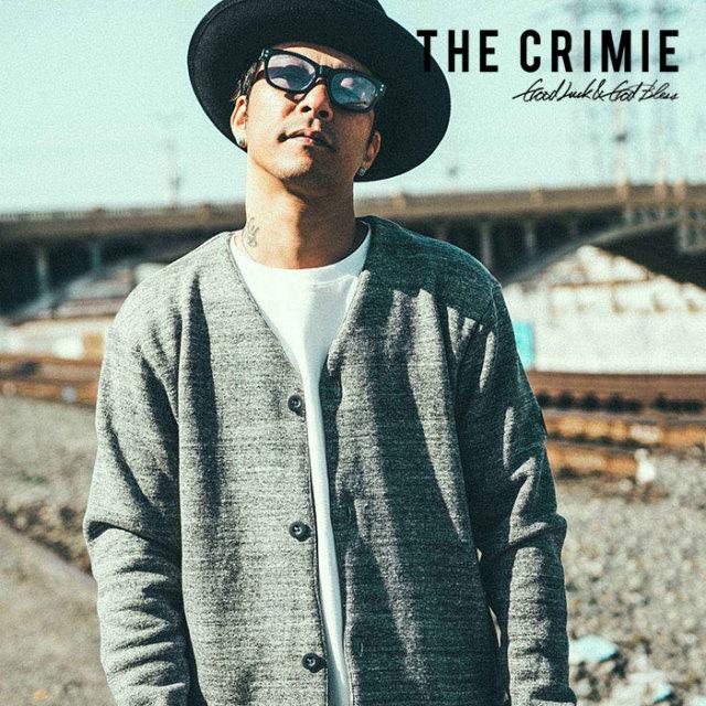 CRIMIE(クライミー)メンズ スウェット カーディガン COTTON 100% 【C1H5-SWX5】【S M L XL】【ブラック 黒】吊り編み 人気 おしゃれ