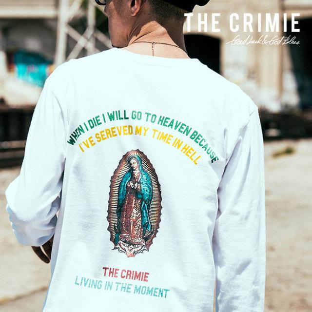 【SALE30%OFF】 CRIMIE(クライミー) メンズ Tシャツ プリント コットン100% 【C1H5-TE01】[S M L XL][ホワイト ブラック 白 黒]