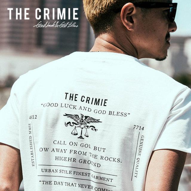CRIMIE(クライミー) メンズ Tシャツ ロゴプリント コットン100%【C1H5-TE06】  [XS S M L XL XXL][ホワイト ブラック 白 黒] カジュ