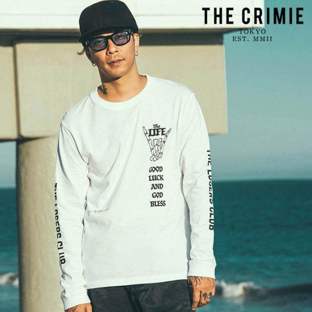 CRIMIE(クライミー) LOSERS CLUB LONG T-SHIRT 【ロングスリーブTシャツ】【ブラック ホワイト アメカジ ミリタリー】【シンプル