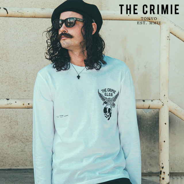CRIMIE(クライミー) EAGLE LONG T-SHIRT 【ロングスリーブTシャツ】【ブラック ホワイト アメカジ ミリタリー】【シンプル おしゃ
