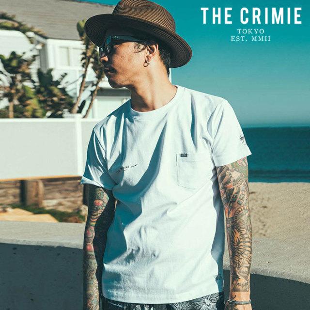 CRIMIE(クライミー) CR PLATE POCKET T-SHIRT 【ポケットTシャツ】【ブラック ホワイト アメカジ ミリタリー】【シンプル おしゃれ