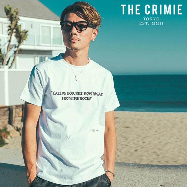 CRIMIE(クライミー) MESSAGE T-SHIRT 【プリントTシャツ】【ブラック ホワイト アメカジ ミリタリー】【シンプル おしゃれ】【CR01