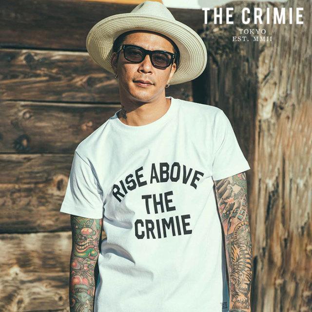 CRIMIE(クライミー) RISE ABOVE T-SHIRT 【プリントTシャツ】【ブラック ホワイト アメカジ ミリタリー】【シンプル おしゃれ】【C