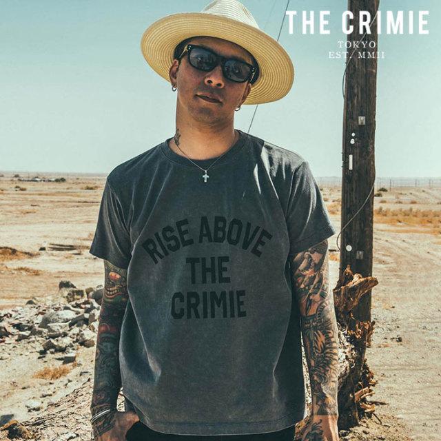 CRIMIE(クライミー) VINTAGE USED RISE AVOBE T-SHIRT 【ユーズド Tシャツ】【ブラック アメカジ ミリタリー】【シンプル おしゃれ