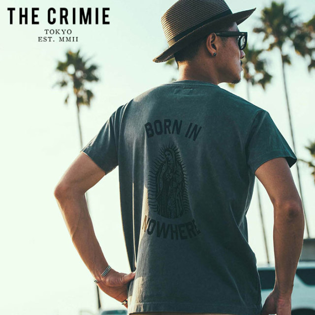 CRIMIE(クライミー) VINTAGE USED MARIA POCKET T-SHIRT 【ユーズド Tシャツ】【ブラック アメカジ ミリタリー】【シンプル おしゃ