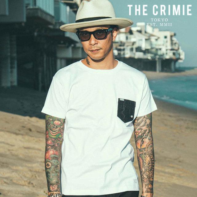 CRIMIE(クライミー) WRINKLE POCKET T-SHIRT 【ポケットTシャツ】【ブラック ホワイト アメカジ ミリタリー】【シンプル おしゃれ
