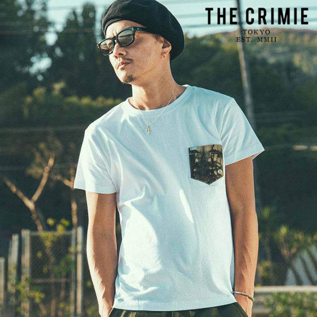 CRIMIE(クライミー) WRINKLE TIE DYE POCKET T-SHIRT 【ポケットTシャツ】【ブラック ホワイト アメカジ ミリタリー】【シンプル