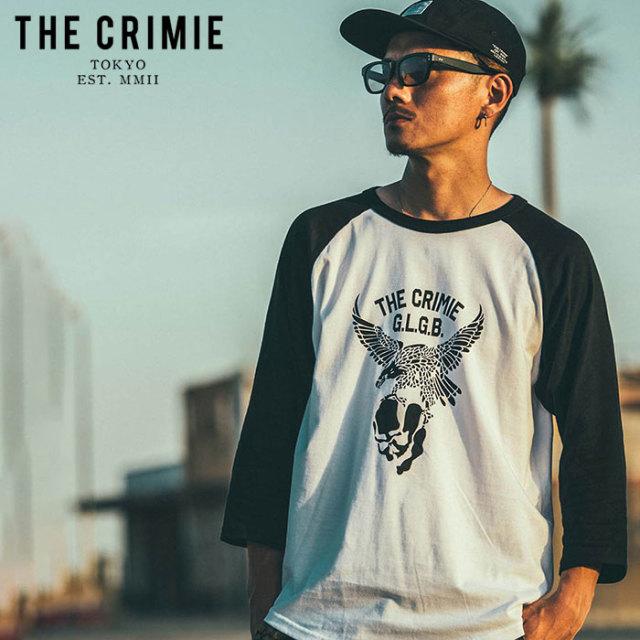 【SALE30%OFF】 CRIMIE(クライミー) EAGLE 7TH RAGLAN T-SHIRT 【セール】【7分袖ラグランTシャツ イーグル】【アメカジ ミリタリ