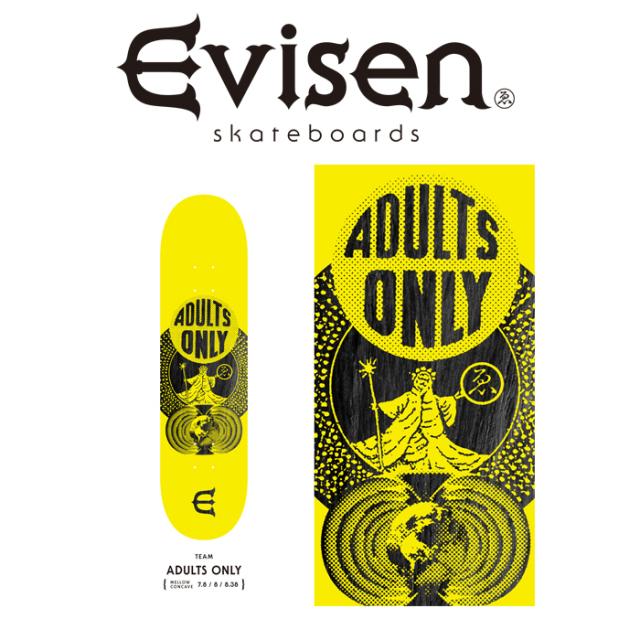 【EVISEN】 Evisen Skateboards (エヴィセン スケートボード)  ADULTS ONLY  【デッキ スケートボード スケボー】【エビセン スケ