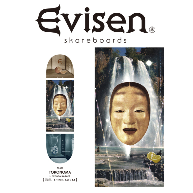 Evisen Skateboards (エヴィセン スケートボード) TOKONOMA by TETSUYA NAGATO 【デッキ スケートボード スケボー】【エビセン ス