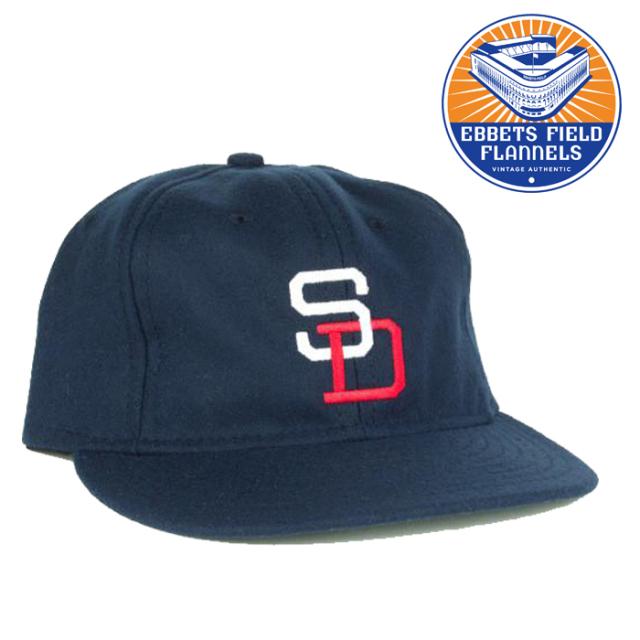 EBBETS FIELD FLANNELS(エベッツフィールドフランネルズ) SanDiego Padres 1956 CAP 【キャップ 帽子】