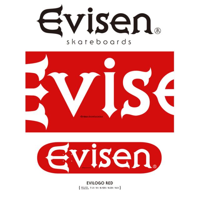 Evisen Skateboards (エヴィセン スケートボード) EVILOGO RED 【デッキ スケートボード スケボー】【2021 SPRING&SUMMER COLLECTI