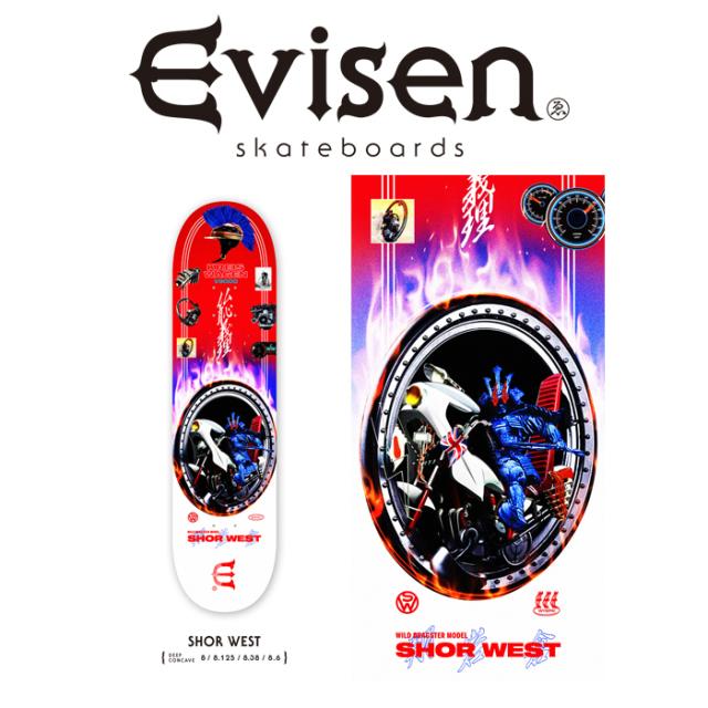 Evisen Skateboards (エヴィセン スケートボード) SHOR WEST 【デッキ スケートボード スケボー】【SHOR WEST モデル】【2021 SPRI