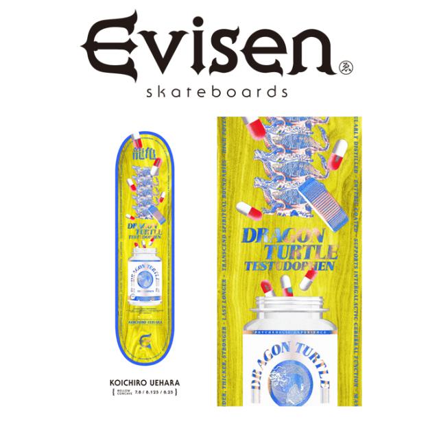 Evisen Skateboards (エヴィセン スケートボード) KOICHIRO UEHARA 【デッキ スケートボード スケボー】【2021 SPRING&SUMMER COLL
