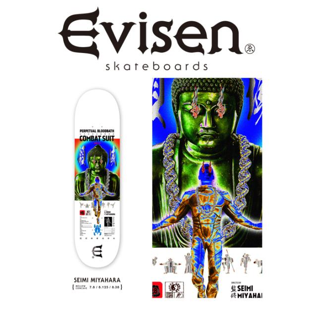 Evisen Skateboards (エヴィセン スケートボード) SEIMI MIYAHARA 【デッキ スケートボード スケボー】【2021 SPRING&SUMMER COLLE
