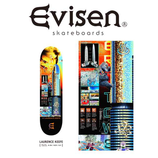 Evisen Skateboards (エヴィセン スケートボード) LAURENCE KEEFE 【デッキ スケートボード スケボー】【2021 SPRING&SUMMER COLLE