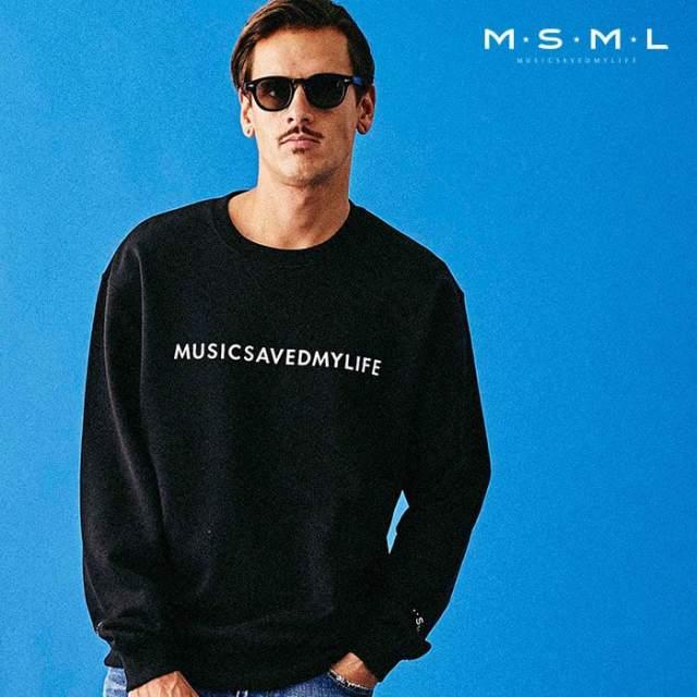 MSML(MUSIC SAVED MY LIFE)(エムエスエムエル) MUSICSAVEDMYLIFE SWEAT 【スウェット トレーナー】【ストリートファッション ロッ