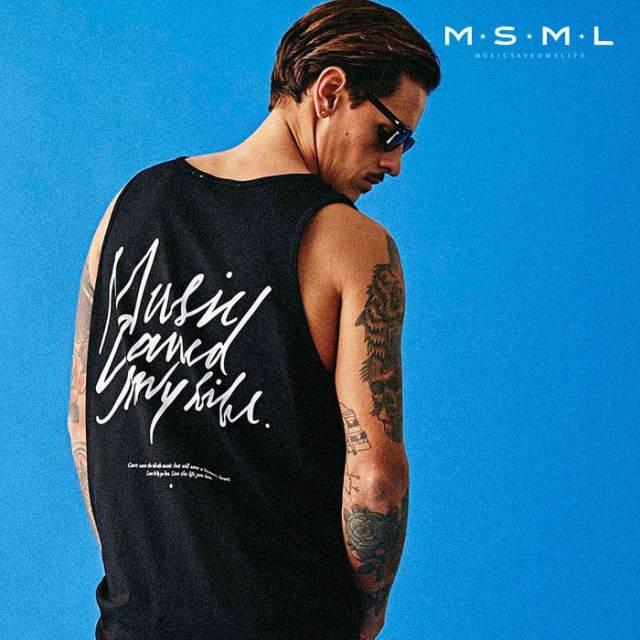 MSML(MUSIC SAVED MY LIFE)(エムエスエムエル) MUSICSAVEDMYLIFE  TANK TOP 【タンクトップ】【ストリートファッション ロック バ