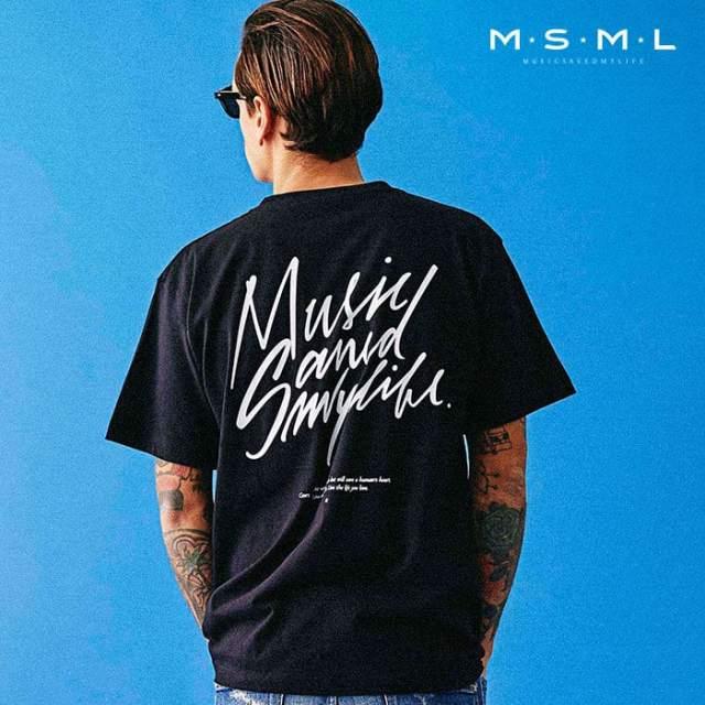 MSML(MUSIC SAVED MY LIFE)(エムエスエムエル) MUSICSAVED MYLIFE TEE 【Tシャツ 半袖】【ストリートファッション ロック バンド】