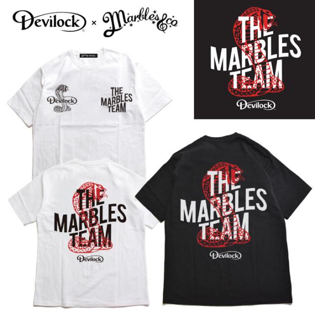 DEVILOCK(デビロック)×MARBLES(マーブルス) Cobra Team Tee 【コラボレーション】【Tシャツ 半袖】【フロント バック プリント】