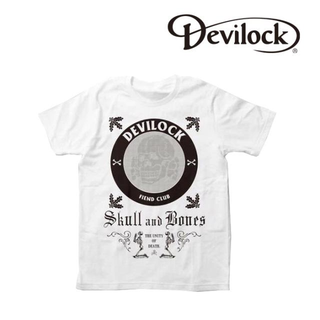 【先行予約商品】 DEVILOCK(デビロック) SKULL&BONE TEE 【Tシャツ 半袖】【フロント プリント】【キャンセル不可 受注生産】
