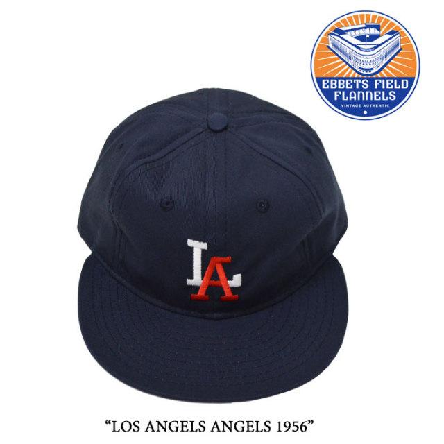 EBBETS FIELD FLANNELS(エベッツフィールドフランネルズ) LOS ANGELS ANGELS 1956 【EBBETS FIELD FLANNELS コットンツイルキャッ