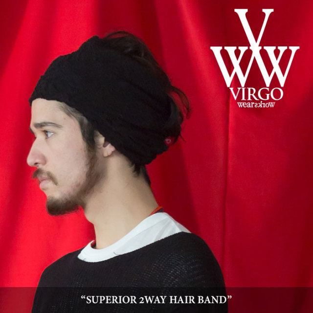 VIRGO(ヴァルゴ) SUPERIOR 2WAY HAIR BAND 【2018SPRING/SUMMER 1st collection先行予約】 【キャンセル不可】 【VG-GD-527】