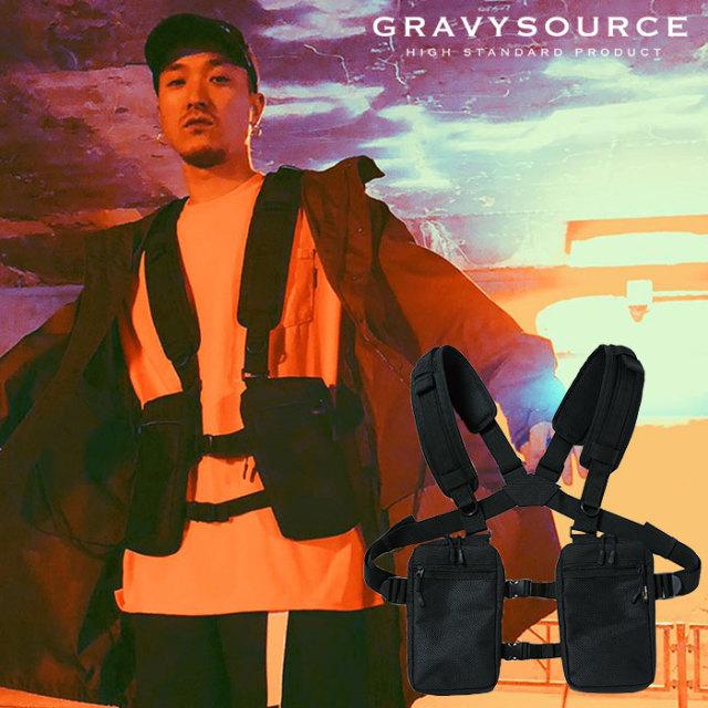 GRAVYSOURCE(グレイヴィーソース) BODYSHOULDER POUCH 【2019SUMMER/AUTUMN新作】 【GS19-NAC05】【ボディバッグ】
