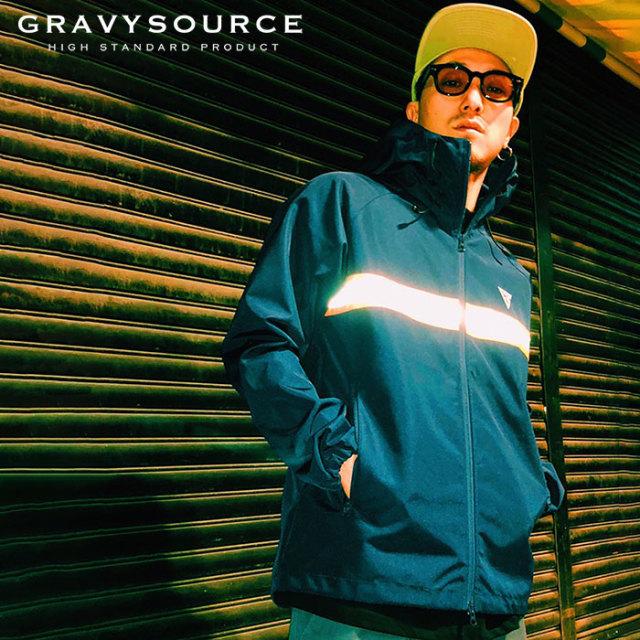 GRAVYSOURCE(グレイヴィーソース) REFLECTOR SHELL JACKET  【2019SUMMER/AUTUMN先行予約】【キャンセル不可】 【GS19-NJK01】【