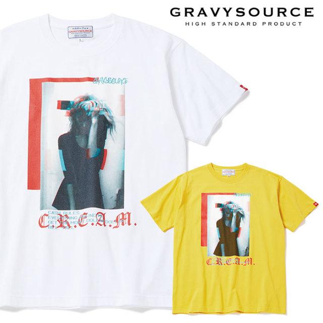GRAVYSOURCE(グレイヴィーソース) CREAM TEE 【2019SUMMER/AUTUMN先行予約】【キャンセル不可】 【GS19-NTE06】【Tシャツ】