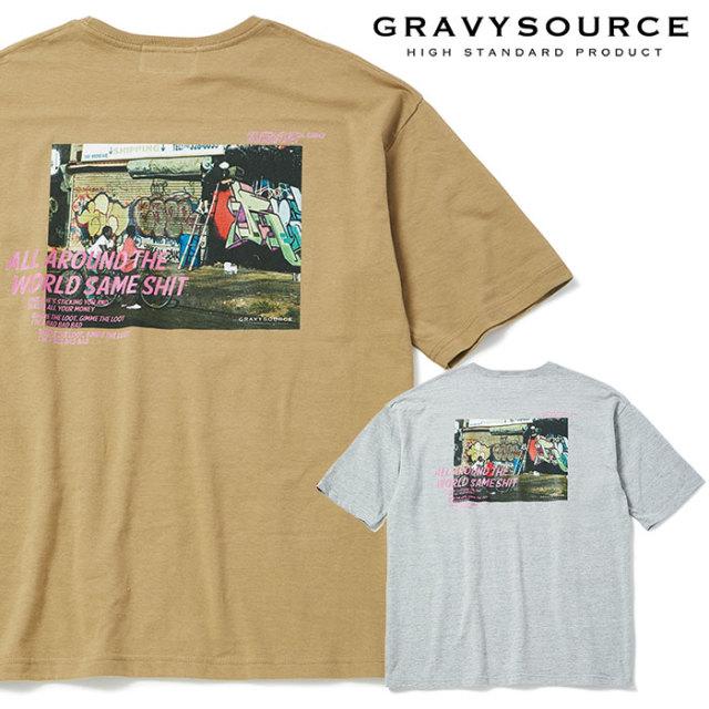GRAVYSOURCE(グレイヴィーソース) NYSTREET TEE 【2019SUMMER/AUTUMN先行予約】【キャンセル不可】 【GS19-NTE07】【Tシャツ】