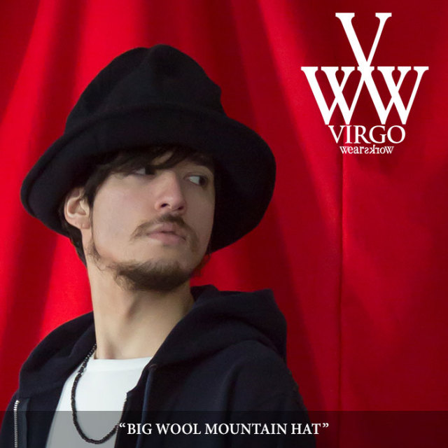 【SALE】 VIRGO(ヴァルゴ) BIG WOOL MOUNTAIN HAT 【2018SPRING/SUMMER 1st collection新作】 【VG-GD-532】