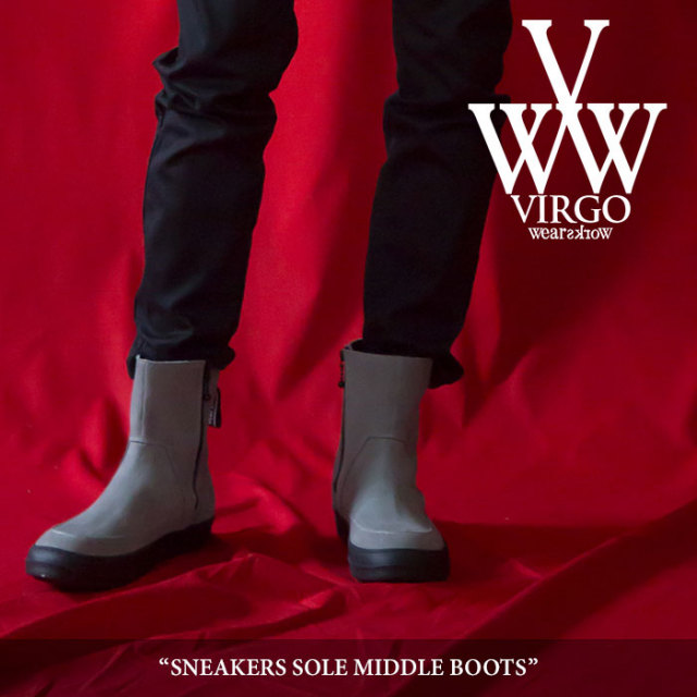 【SALE30%OFF】 VIRGO(ヴァルゴ) SNEAKERS SOLE MIDDLE BOOTS 【2018SPRING/SUMMER 1st collection新作】 【送料無料】【即発送
