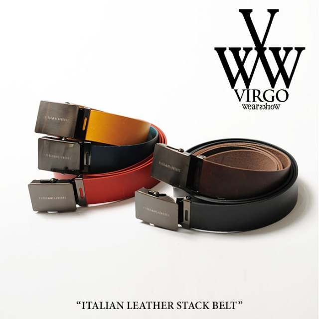 【SALE】 VIRGO(ヴァルゴ) ITALIAN LEATHER STACK BELT 【2018SPRING/SUMMER 1st collection新作】 【VG-GD-538】