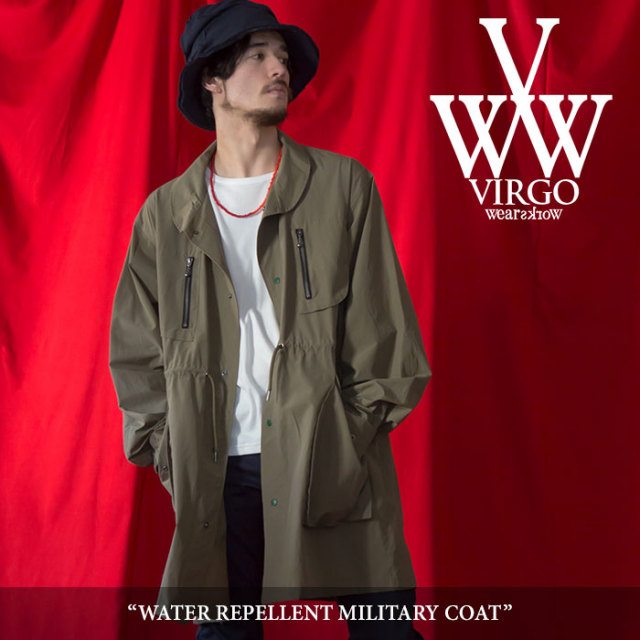 VIRGO(ヴァルゴ) WATER REPELLENT MILITARY COAT 【2018SPRING/SUMMER 1st collection先行予約】 【送料無料】【キャンセル不可】