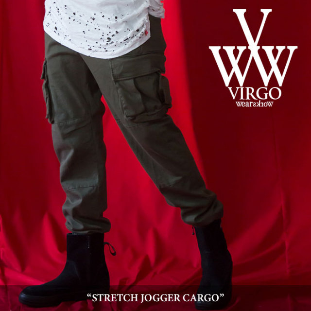 VIRGO(ヴァルゴ) STRETCH JOGGER CARGO 【2018SPRING/SUMMER 1st collection新作】 【送料無料】【即発送可能】 【VG-PT-282】