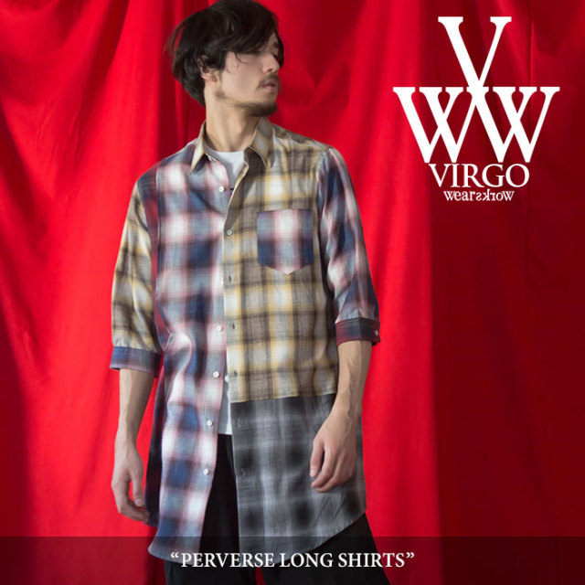 VIRGO(ヴァルゴ) PERVERSE LONG SHIRTS 【2018SPRING/SUMMER 1st collection先行予約】 【送料無料】【キャンセル不可】 【VG-SH