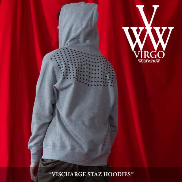 VIRGO(ヴァルゴ) VISCHARGE STAZ HOODIES 【2018SPRING/SUMMER 1st collection先行予約】 【送料無料】【キャンセル不可】 【VG-